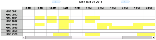 COWS Event room scheduling grid
