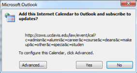 Outlook confirmation dialog